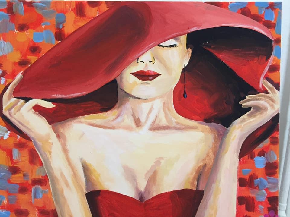 Piros Kalapos Hölgy